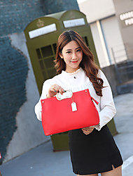 cheap -Women Bags PU Tote for Wedding Event/Party Casual Sports Formal Outdoor Office & Career All Seasons Black Red Gray Fuchsia