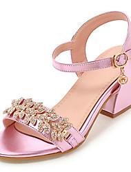 Da donna Sandali Club Shoes Finta pelle Primavera Estate Autunno Casual Formale Serata e festa Club Shoes Borchie Brillantini Fibbia