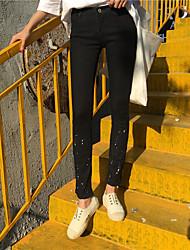 segno chiusura lampo dei pantaloni pantaloni piedi jeans stretti vernice dot