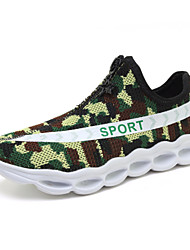 Sneakers Comfort Light Soles Light Up Shoes Tulle Spring Summer Fall Casual Outdoor Walking Zipper Flat Heel Black Army Green Flat