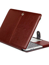 "Sleeve for Macbook Pro 13""/15"" Solid Color PU Leather Material Tablet Luxury Ultra Slim Magnetic Folio Stand Crazy Horse Pattern Leather Case Cover"