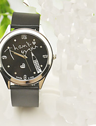 cheap -Women's Fashion Watch Rhinestone / Imitation Diamond Silicone Band Charm / Casual / Word Watch Black