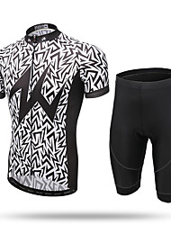 cheap -XINTOWN Cycling Jersey with Shorts Men's Short Sleeves Bike Jersey Shorts Clothing Suits Quick Dry Front Zipper Breathable Soft Ultra