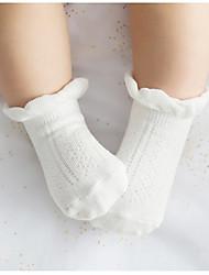 economico -calzini dei bambini lavoratori di cotone calzini mucchio di cotone del punto di colore solido dei calzini bambini nei calzini del tubo del