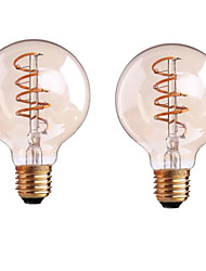 4W B22 E26/E27 LED Filament Bulbs G80 1 leds COB Dimmable Warm White 400-500lm 2700-3500K AC 220-240 AC 110-130V