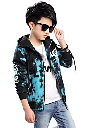 cheap -Boys' Daily Print Suit & Blazer,Polyester Spring Fall All Seasons Long Sleeve Floral Blue Red Gray