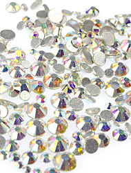 cheap -1Bag 400-500pcs SS3-SS16 Mixed Size Nail AB Rhinestone New Nail Art Glitter Sparkling Shiny Rhinestone Nail Art Bling Bling Decoration Rhinestone