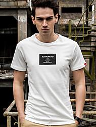 Signo 2017 verano nueva ola de algodón de algodón de manga corta camiseta de impresión delgada cuello redondo t-shirt coreano delgado