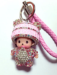 cheap -Dolls Key Chain Diamond Toys Leisure Hobby Pink Crystal
