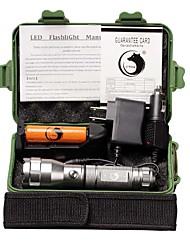U'King Светодиодные фонари Светодиодная лампа 1500 lm 3 Режим Cree XP-E R2 с батареей и зарядными устройствами Походы/туризм/спелеология