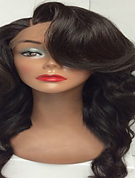 cheap -Hot Sale Virgin Human Hair Wig Glueless Lace Front Wigs With Baby Hair Body Wave Natural Black Color For Black Woman Wholesale