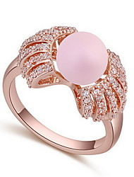 Women's Ring Natural Luxury Zircon Cubic Zirconia Alloy Jewelry For Daily