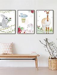 Fantasia Decorazioni da parete in 3D Stampe con cornice Tele con cornice Set con cornice Decorazioni da parete,Legno Materiale Marrone