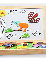 baratos -Quebra-cabeças Brinquedo Educativo Blocos de construção Brinquedos Faça Você Mesmo 1 Madeira Arco-Íris Hobbies de Lazer