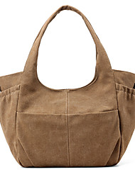 Women Bags All Seasons Canvas Shoulder Bag for Casual Sports Outdoor Blue Gray Brown Violet