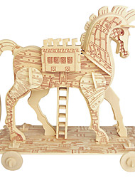 cheap -Jigsaw Puzzles Wooden Puzzles Building Blocks DIY Toys Trojan Horse 1 Wood Ivory Model & Building Toy