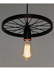Rétro Lampe suspendue Pour Salle de séjour Bureau/Bureau de maison Entée Couloir Garage AC 110-120 AC 100-240V Ampoule incluse