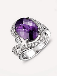 Ring Crystal Fashion Luxury Synthetic Gemstones Jewelry For Daily Casual