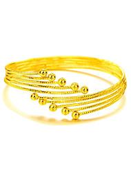 Недорогие -Браслет цельное кольцо Богемные Природа Открытые Мода Регулируется Медь Позолота 24K Plated Gold Круглый Бижутерия Новогодние подарки