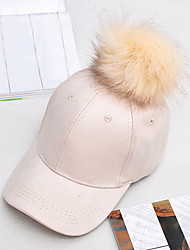 cheap -Women's Fashion Suede Solid  Faux Leather Baseball Cap Sun Hat Cute Casual Fall Winter
