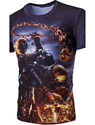 cheap -Men's Sports Cotton T-shirt Print