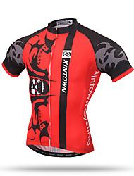 Недорогие -XINTOWN Муж. С короткими рукавами Велокофты - Белый / Красный Велоспорт Быстровысыхающий, Дышащий, Впитывает пот и влагу