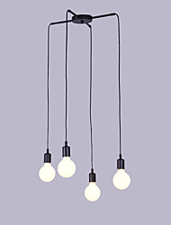 billige -4-Light Vedhæng Lys Baggrundsbelysning - designere, 110-120V / 220-240V Pære ikke Inkluderet / 15-20㎡ / E26 / E27