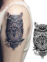 1 pcs   Waterproof Large Temporary Tattoos Paper Owl Design Fake Tatoo Sticker Body Art