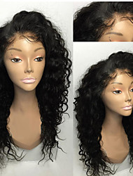 cheap -8A 8-30inch Glueless Lace Front Wigs Curly Natural Black Color Brazilian Human Hair Lace Wigs For Women