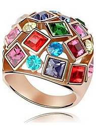 cheap -Women's Statement Ring - Zircon, Alloy Fashion, Colorful, Festival / Holiday 6 / 7 / 8 Golden For Wedding / Party / Anniversary
