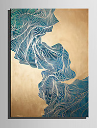 cheap -E-HOME Oil painting Modern Abstract Green Stone Mountain Pure Hand Draw Frameless Decorative Painting