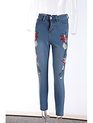 cheap -Women's Casual Slim Jeans Pants - Solid Colored