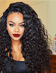 Fashion Style Kinky Curly Style Natural Black Color Hair Wigs Brazilian Human Virgin Hair Glueless Full Lace Wigs With Baby Hair Wholesale