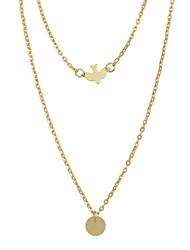 Ожерелье Ожерелья-бархатки Бижутерия Повседневные Базовый дизайн Сплав 1шт Подарок Золотой