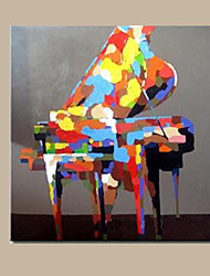 Hand Painted Colorful Piano Oil Painting Modern Abstract Musical Instrument Canvas Painting for Bedroom Wall Art Artwork Ready Made Frame