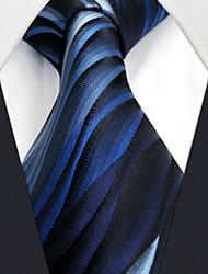 cheap -UXL23  Mens Ties Blue Geometrical 100% Silk Business Fashion For Men