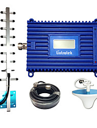 cheap -Lintratek 3G Repeater 2100 UMTS Mobile Repeater 70dB Gain Signal Booster LCD Display Amplifier 2100MHz Repeater Yagi Antenna Kit