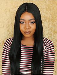 Lace Front Wig Brazilian Virgin Human Hair Yaki Straight Wig For African American Women