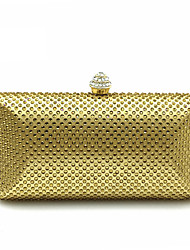cheap -Women's Bags Polyester Evening Bag Crystal/ Rhinestone Metallic for Wedding Event/Party Casual Formal Office & Career Winter Spring