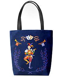 Women Shoulder Bag Canvas Outdoor Blue