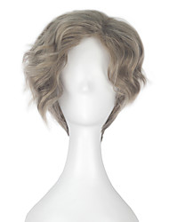cheap -Beauty and the Beast Maurice Men Adult Short Wavy Grey Color Movie Cosplay Costume Party Full Wig