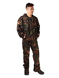 Per uomo Per donna Unisex Manica lunga Giacca e pantaloni da caccia Compatto Camouflage Set di vestiti per Caccia M L XL XXL