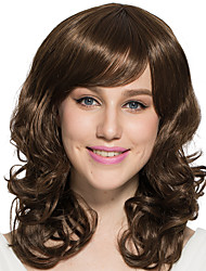 Deep Wavy Long Brown Wig Capless Synthetic Fiber Wig Costume Cosplay Hairstyle