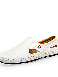 Men's Loafers & Slip-Ons Comfort Driving Shoes PU Spring Summer Casual Office & Career Party & Evening Comfort Driving ShoesWhite Black