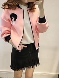 жир мм куртки осень 2016 новых крупных женщины размера жира сестра свободного бейсбол равномерного кардиган куртка 200 фунтов