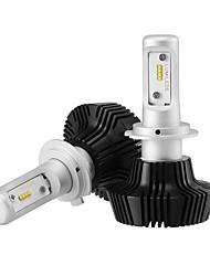 economico -2x kit di conversione del faro H7 lampadine fari bridgelux 2x chip di pannocchia LED Driver