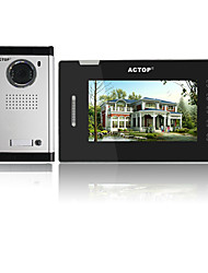 ACTOP 7inch 4wire Touch Keypad Multi Apartment Video Door Phone Intercom System