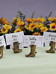 cheap -Cowboy Boot Place Card Holder Beter Gifts® Wedding Decoration