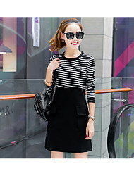 Spring new Korean Women Slim long section of solid color dress 2017 new base skirt tide