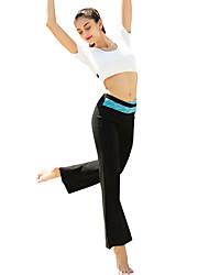 calças de yoga Calças Respirável Confortável Natural Com Elástico Elasticidade Alta Moda Esportiva Preto MulheresIoga Pilates Exercício e